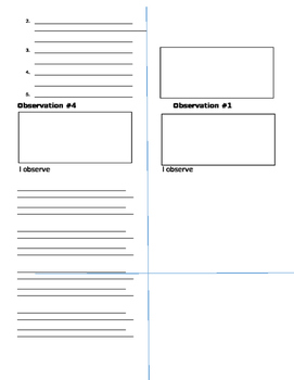 Plant Life Cycle Observation Booklet