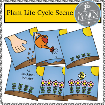 Plant Life Cycle Scene (JB Design Clip Art for Personal or Commercial Use)