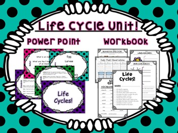 Plant & Butterfly Life Cycle Unit Lessons and Workbook