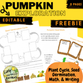 Plant Life Cycle Unit FREE - Pumpkin Exploration / Fall themed - Experiment