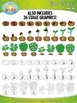 Plant Life Cycle and Life Stages Clipart Set — Comes In Co