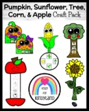 Plant Life Cycles Craft Pack: Pumpkin, Sunflower, Tree, Apple, Corn (Fall)