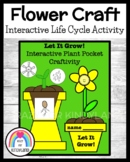 """Spring Weather Craft for K: Interactive Flower """"Planting"""" Activity & Life Cycle"""