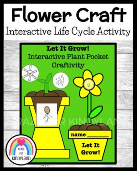 """Flower Craft: Interactive """"Planting"""" Activity and Life Cyc"""
