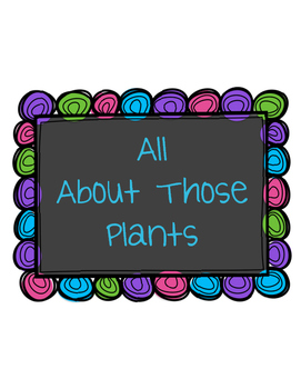 Plant NGSS Science Unit
