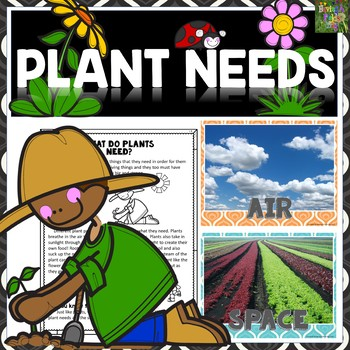 Plant Needs- Mini Posters, Worksheets, and Mini-Book