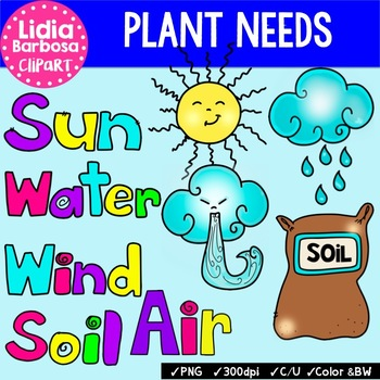 Plant Needs {Clip Art for Teachers}