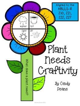 Plant Needs Craftivity
