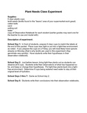 Plant Needs Experiment and Observation Notebook - K-2
