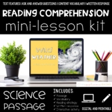 Wild Weather Reading Comprehension Mini Lesson for Digital