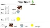Plant Needs Rebus Writing FREEBIE