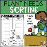 Plant Needs Science Sort {Living Things} Kindergarten & Fi