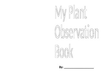 Plant Observation Booklet
