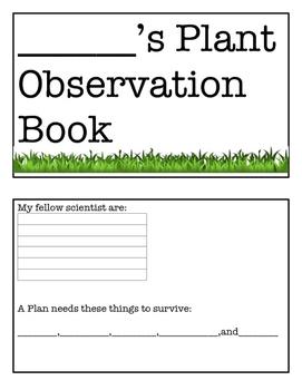Plant Observation Booklet