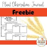 Plant Observation Journal FREEBIE