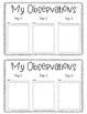 Plant Observation Log {A Daily Journal to Write About Your