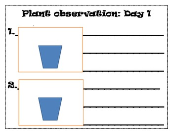 Plant Observation Log Book