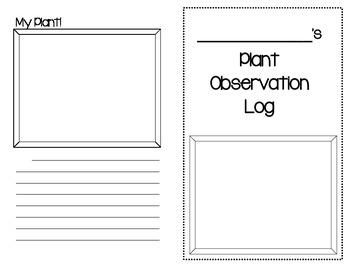Plant Observation Log - Upper Elementary