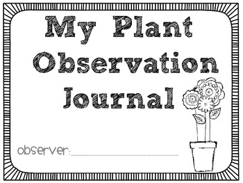 Plant Observation Packet: Ready, Set, Grow!