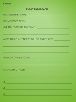 Plant Paragraph Assignment
