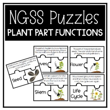 Plant Part Function Puzzles (NGSS)