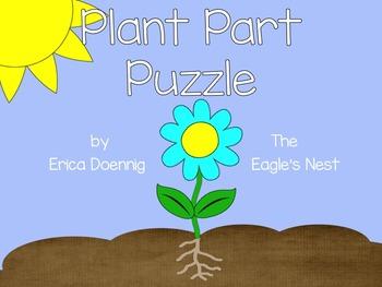 Plant Part Puzzle {a freebie}