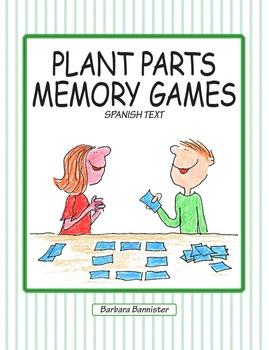 Plant Parts Memory Games - Spanish