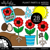 Plant Parts & Needs Clipart {A Hughes Design}