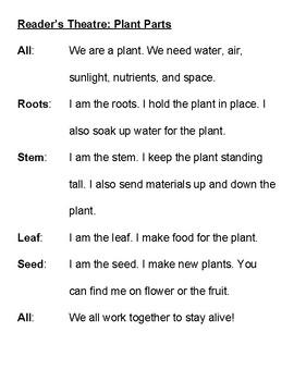 Plant Parts Reader's Theatre