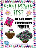 Plant Power Test Plant Unit Assessment FREEBIE Grades 1-2