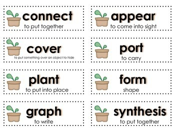 Plant Prefixes: Literacy Station combining Science and Literacy for Big Kids