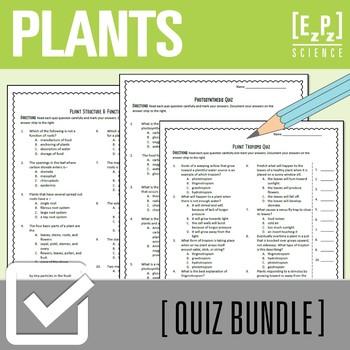Plant Processes Quiz Bundle
