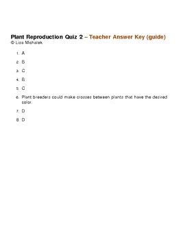 Plant Reproduction Quiz 2