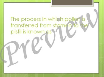 Plant Reproduction Review PowerPoint