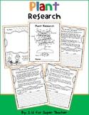 Plant Research Packet- NO PREP - Literacy RI 3.1/3.3