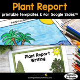 Plant Research Project: Plant Report Printable AND Digital