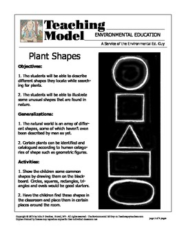 Plant Shapes - A Student Investigation