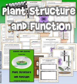 Plant Structure and Function Science and Literacy Set (TEKS & NGSS)