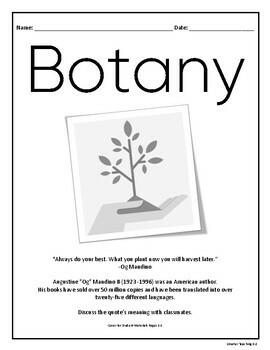 Plant Study: Engineering A Plant STEM