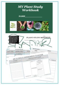 Plant Study Workbook Science Investigation planner
