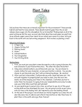 Plant Tales Project (Language Arts & Science)