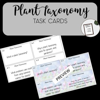 Plant Taxonomy Task Cards