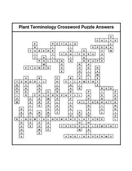 Plant Terminology Crossword Puzzle