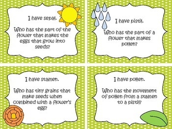 "Plant Terms ""I Have, Who Has"" Game"