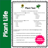 Plant Test/Assessment- 3rd, 4th, 5th