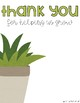 Plant Thank You Card