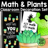 Plant Theme Classroom Decor Set for Math with Cactus and Succulents