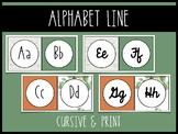 Plant Themed Alphabet Line - Print and Cursive