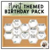 Plant Themed Classroom Birthday Pack