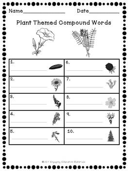 Plant Themed Compound Words